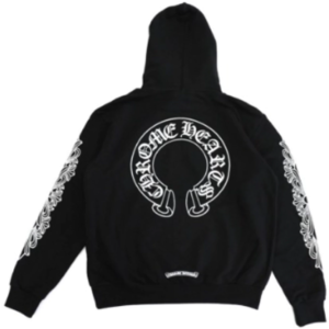 Chrome Hearts Horse Shoe Floral Pullover Hoodie